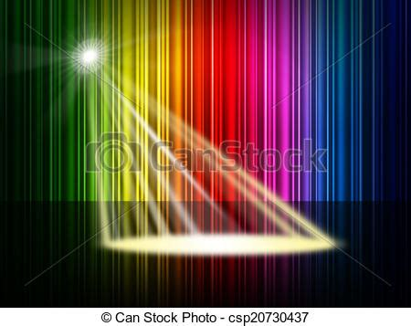 what color represents royalty spectrum spotlight represents colorful background and
