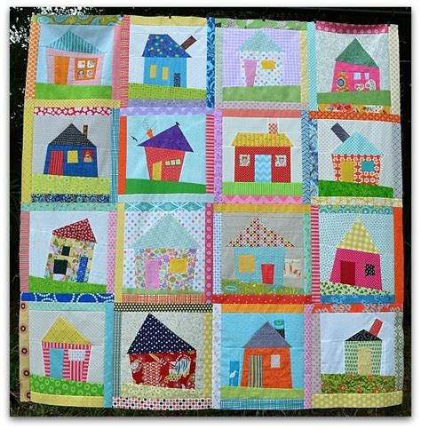 Quilt House by The Sewing Wonky House Quilt Top Finished