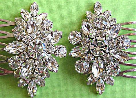 36pcs hair pins bridal flower crystal rhinestone mini hair claws small wedding hair comb set clear crystal rhinestone