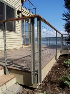 Exterior Stair Railing Systems by Residential Exterior Cable Railings And Stair