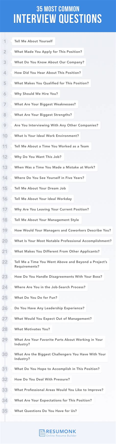 35 most common questions and how to answer them resumonk