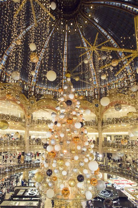 christmas tree in lafayette galeries lafayette travels throughout space to spread cheer luxury daily multichannel