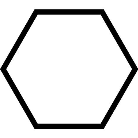 Hexagon Shape - hexagon geometrical shape outline free shapes icons