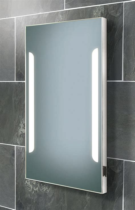 hib zenith back lit steam free mirror with shaver socket
