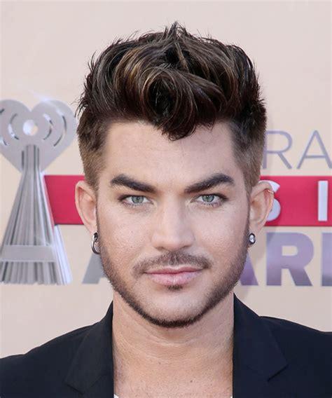 Adam Lambert Short Straight Casual Hairstyle   Dark