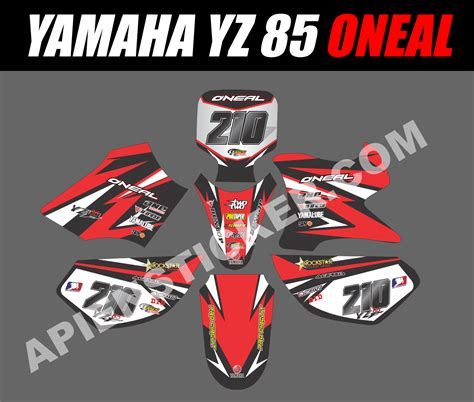 Sticker Decal Striping Dekal Stiker Klx 149 Glossy striping motor cross yamaha yz 85 oneal apien sticker
