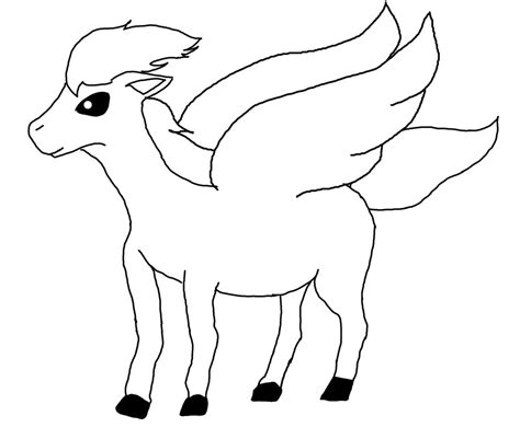 coloring pages of horses with wings with wings lineart by cherryblossom on deviantart
