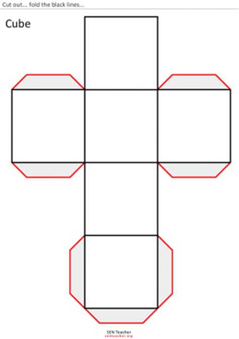 figuras geometricas un cubo cubo para recortar material per classe pinterest