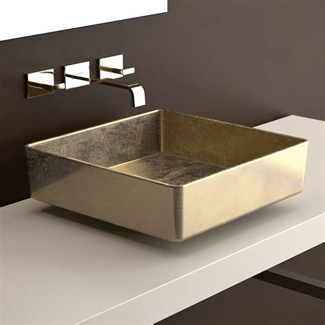 bathroom sink in ws bath collections four vessel bathroom sink in gold