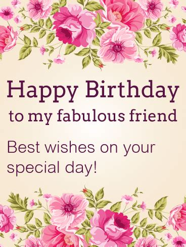 best wishes on your special day happy birthday card for friends birthday greeting cards by