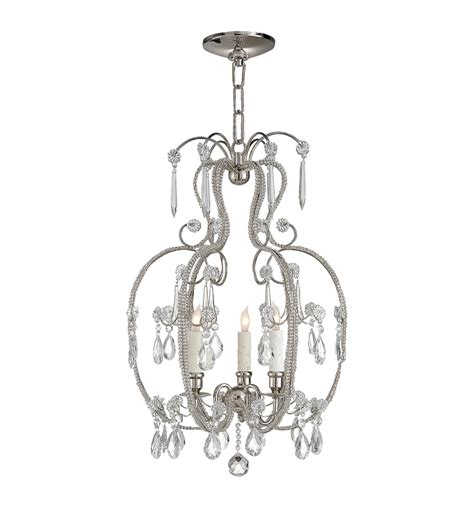 Casual Chandelier Visual Comfort Sk 5100pn Suzanne Kasler Casual Hurley Chandelier In Polished Nickel With
