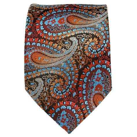 Handmade Neckties - y3 classic multicolor paisley mens ties necktie 100 silk