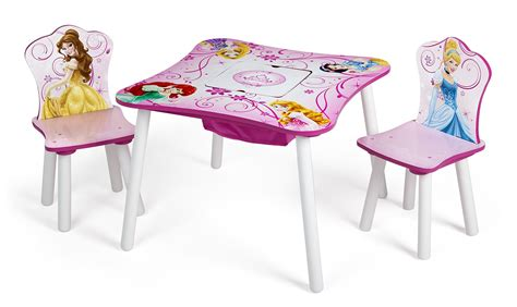 disney princess table and chair set with storage new ebay