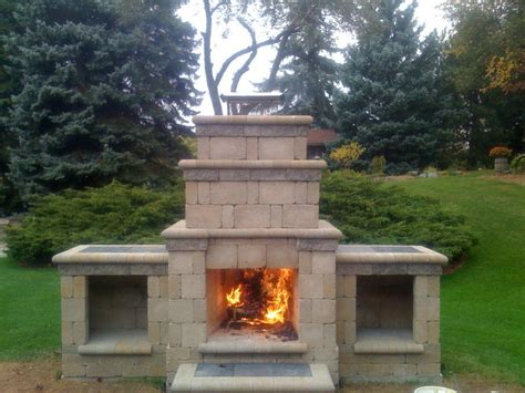 prefabricated outdoor fireplaces pin by josh burns on home