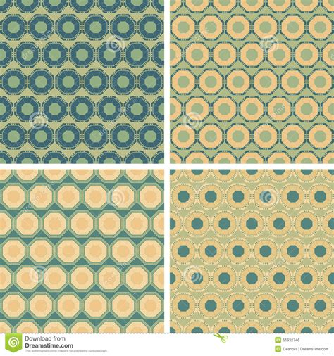 octagon pattern seamless seamless octagon pattern set stock vector image 51932746