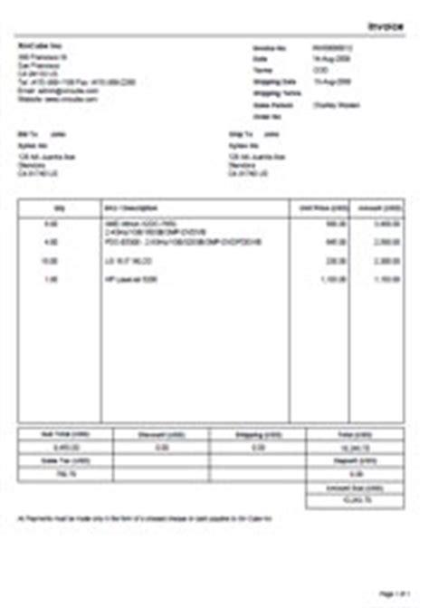 Invois Contoh Invois Concrete Invoice Template