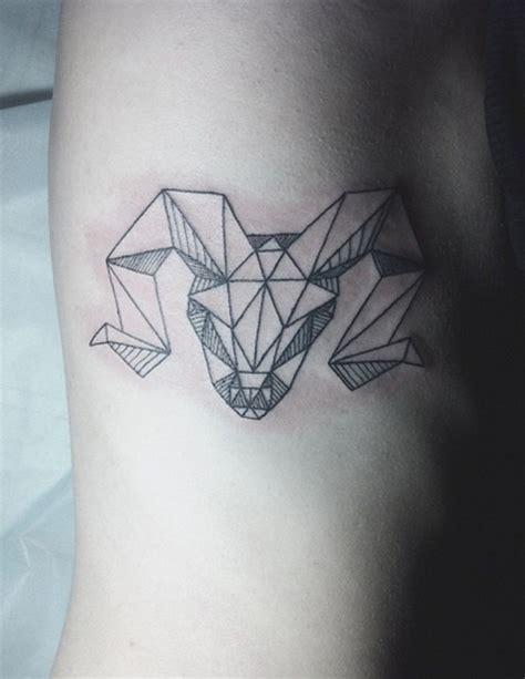 geometric goat tattoo goat skull tattoo by diana katsko tattoomagz