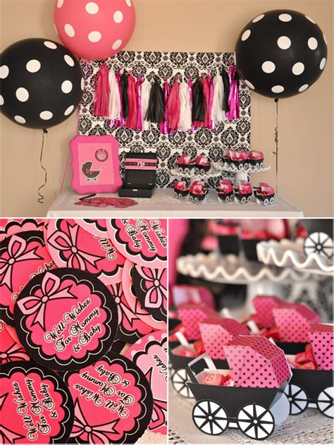 Pink And Black Baby Shower Themes baby shower food ideas baby shower ideas pink and black
