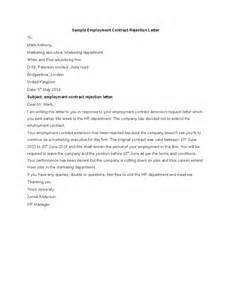 sample employment contract rejection letter hashdoc