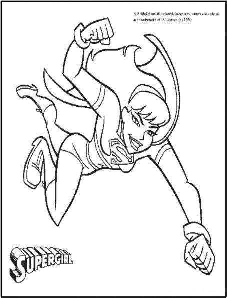 free coloring pages of super girl
