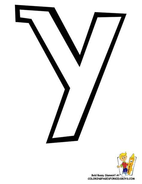 coloring page for letter y large letter y coloring pages