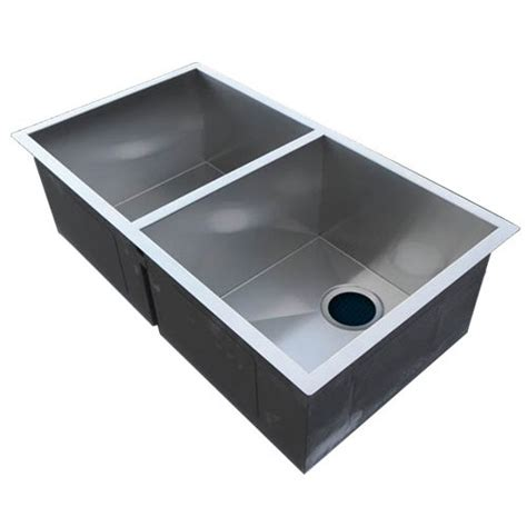 2 bowl kitchen sink catering equipment grand handmade stainless steel
