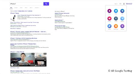 layout yahoo yahoo testet neues layout der serps