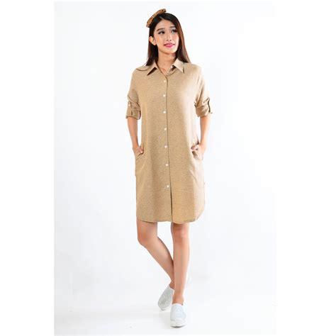Blouse Lengan Panjang Baju Atasan Wanita Tunik Top 529 tunik blouse denim lengan panjang lengan pendek 2