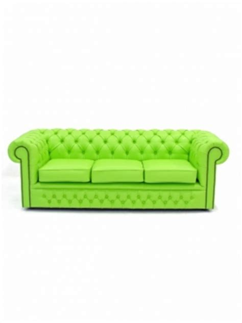lime green chesterfield 3 seater sofa themed furniture