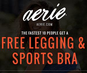 Sports Giveaways Coupon Code - upcoming free aerie legging sports bra giveaway with quickly free product sles