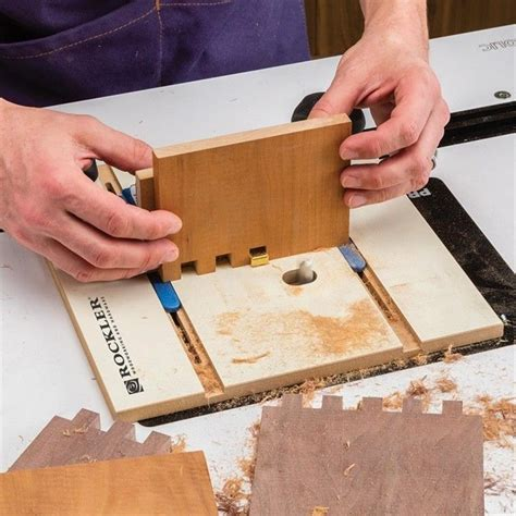 rockler box joint jig  version july  router jigs