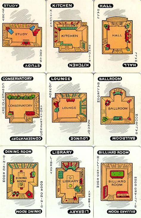 printable clue directions clue board game rooms car interior design