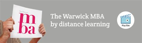 Warwick Distance Learning Mba by Distance Learning Mba Mba Courses Warwick Business School