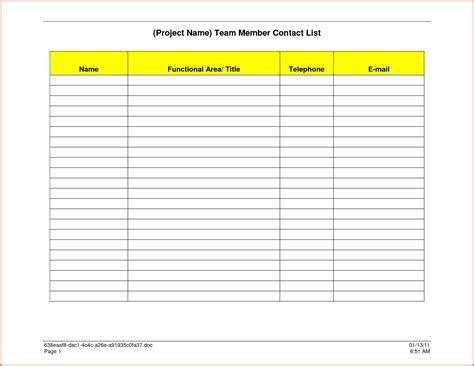 email list template word contact list template word bamboodownunder