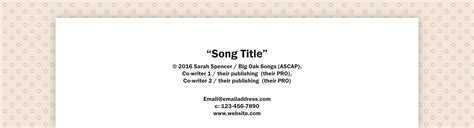 How I Format All My Lyric Sheets Songfancy Lyric Template
