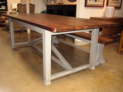 new trestle table and benches farmhouse table company