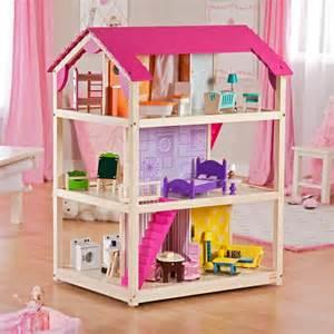 Kids playroom kidkraft so chic dollhouse bright colors doll house