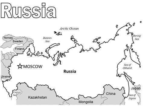 coloring page map of russia russia coloring pages coloring home