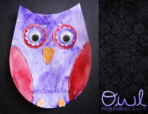 printable owl craft revisited printable owl craft