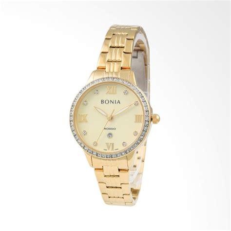 Harga Jam Tangan Bonia Rosso Bnb 10100 jual bonia rosso bnb10283 2223s jam tangan wanita gold