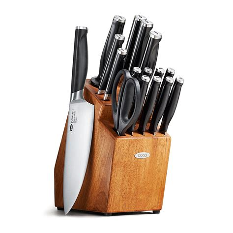 Good Set Of Kitchen Knives by Review Oxo Good Grips 17 Piece Knife Block Set Thatsaknife
