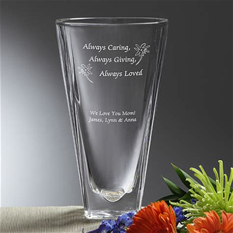 Engraved Flower Vases by Engraved Flower Vase Always Loved