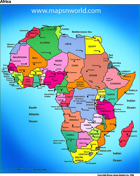 africa map 2015 countries map