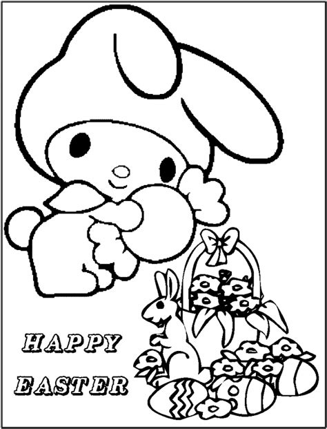 cute baby hello kitty coloring pages cartoon coloring
