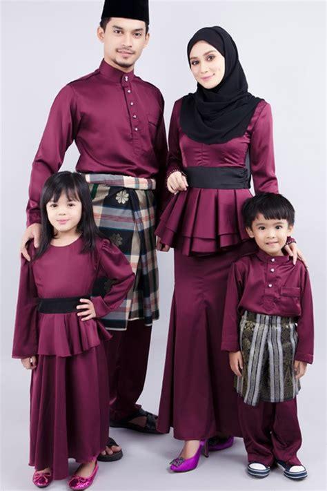 design baju hari keluarga kids baju melayu