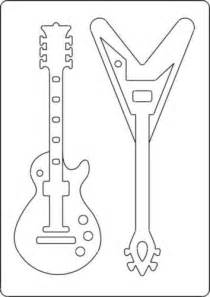 guitar template a4 size template with style guitar 2 guitars