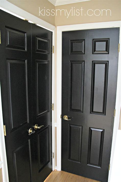 black painted interior doors painting interior doors black my list