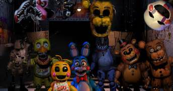 Models of all the names of the characters of five nights at freddys