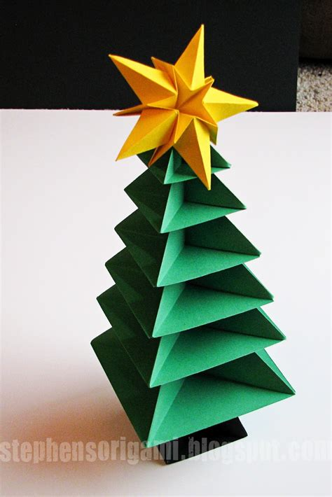 stephen s origami origami christmas tree tutorial