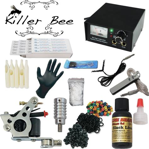 tattoo starter kit killer bee beginner starter kit machine needle gun